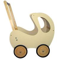 Hvit(Kremfarget) dukkevogn
